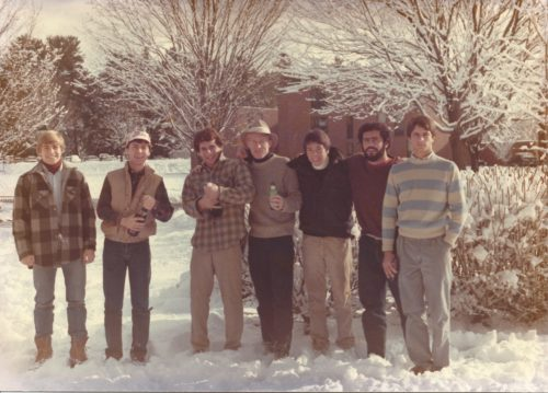 Craig and friends, December 1984.  From left to right, Craig Washa, Ron Grant, David Goran, Brian Storr, Dan Estabrook, Cristian Tahta, Russell Stevens